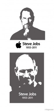 Steve Jobs Jobs black and white vector material