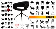 The seat silhouette vector material