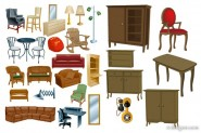 Variety of furniture furniture vector material