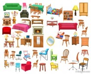 Variety of furniture vector material