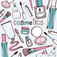 Hand painted cosmetics Vector   Vector