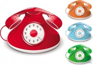 Old fashioned telephone   Vector