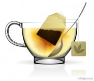 Realistic cup and kettle 01   vector material