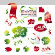 Sales promotion tag vector material