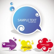 Beautifully marked Sticker 03   vector material