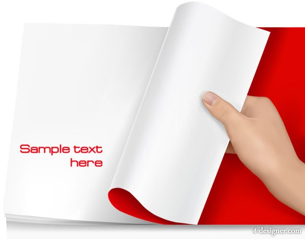 Blank paper 03   Vector material