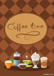 Coffeetime vector material  2
