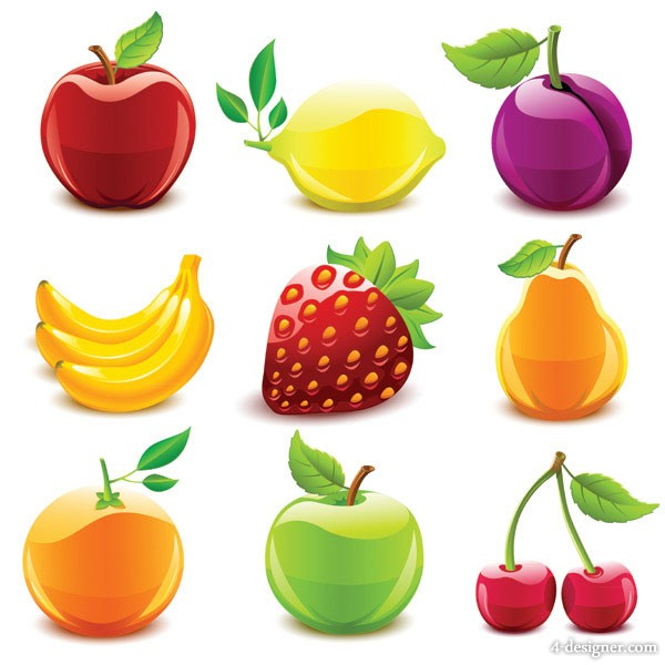 Crystal fruit vector material  1