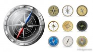 Kinds compass vector material   Vector