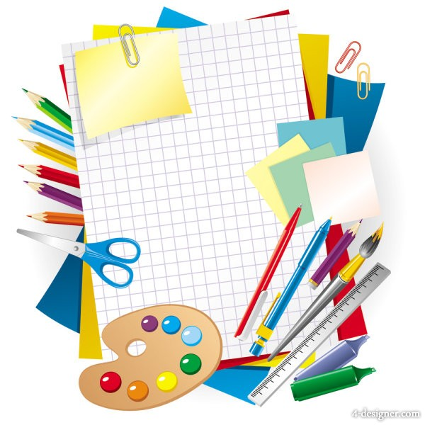 Learning stationery 01   vector material