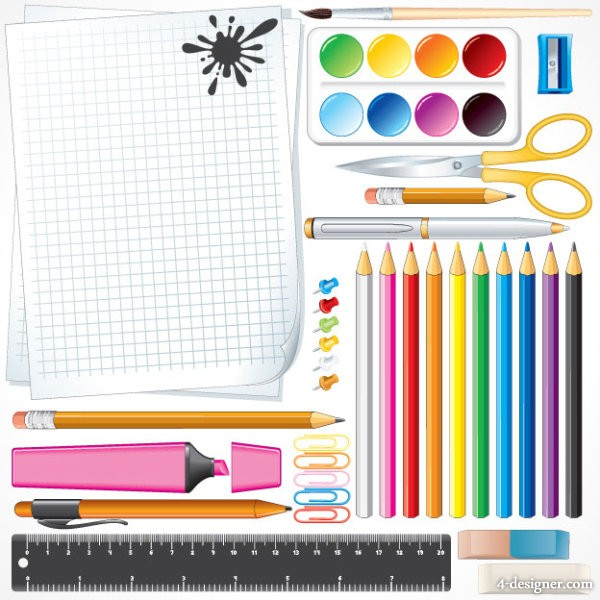 School supplies 02   vector material