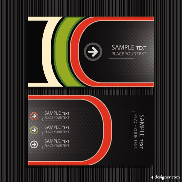 Vector exquisite business cards 05   Vector