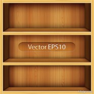 Solid wood bookshelves vector material  1