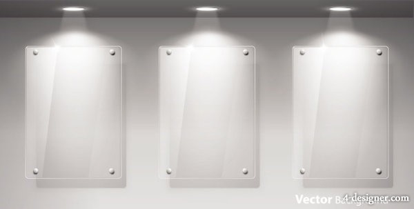 Vector glass showcase for 04   vector material