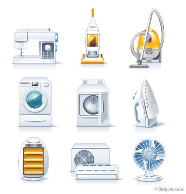 Home Appliances 01   vector material