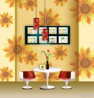 The vector fashion home wallpaper chandelier