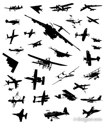 Aircraft, fighter vector material