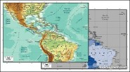Beautiful vector world map material   Central America map