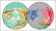 Beautiful vector world map material   spherical map of the northern hemisphere