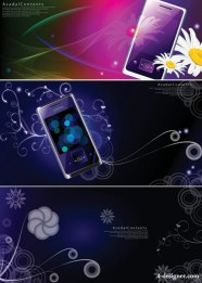 Colorful the phone pattern fantasy background Vector