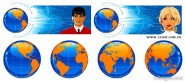 Earth Science and Technology Customer Service Vector