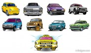 Exquisite variety of cars vector material  3