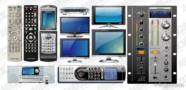 Multimedia phones and electronic series of vector material