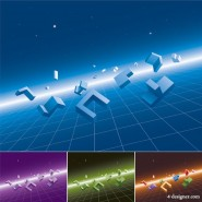 Stereo module with a sense of space background vector material