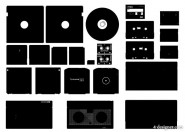 Storage Series silhouette vector material