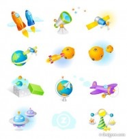 The astronomy hobby classes vector icon material