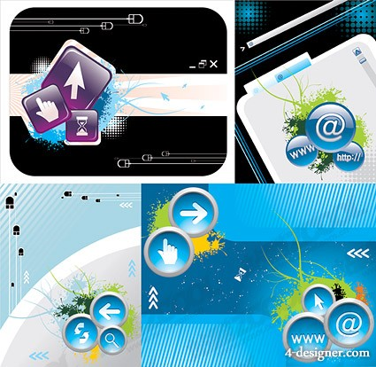 The computer networks illustrator vector material