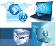 Computer network vector material