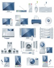 Electronic office products vector material