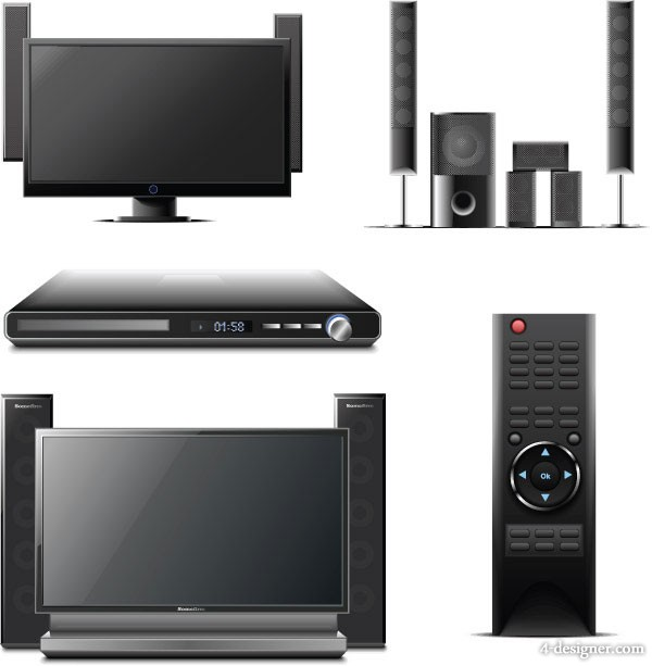 Home theater combination of vector material