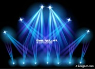 Stage lighting effects 01   vector material