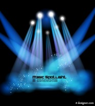 Stage lighting effects 02   vector material