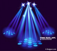 Stage lighting effects 03   vector material