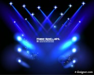 Stage lighting effects 04   vector material
