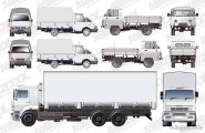 Variety of trucks Vector