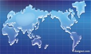 the crystal texture world map vector map of the world; silhouette; Vector
