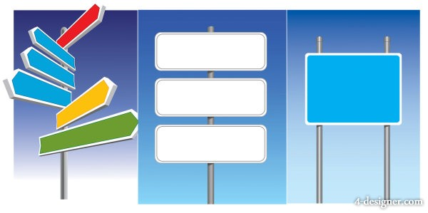 road signs vector material
