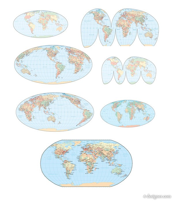 world map vector material