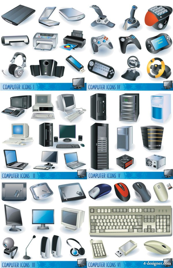 computers and peripheral hardware vector material