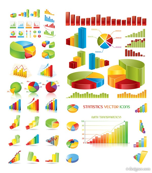 Statistics theme vector material