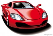 beautiful sports car 05   vector material