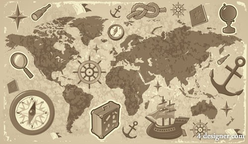 Travel travel element vector material  2