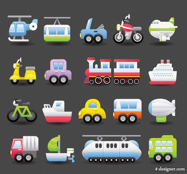 Cute transport vector material  1