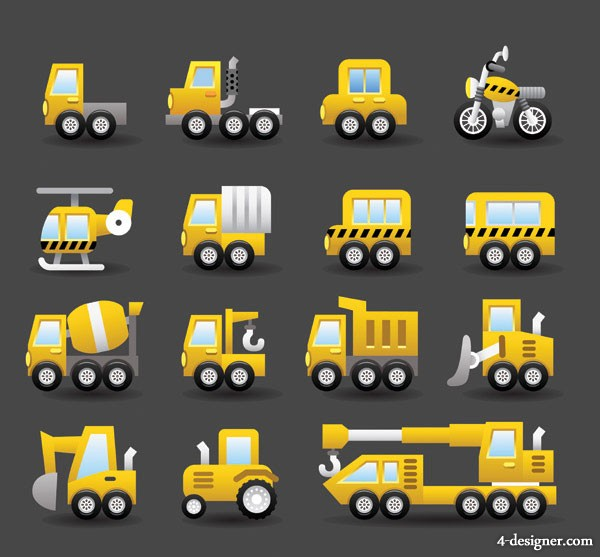 Cute transport vector material  3
