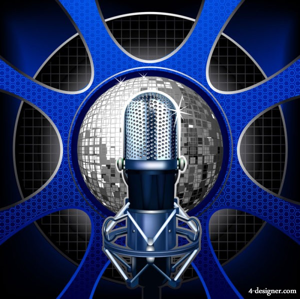 Delicate microphone   vector material