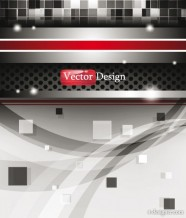 Dynamic technology background vector material 01   Vector